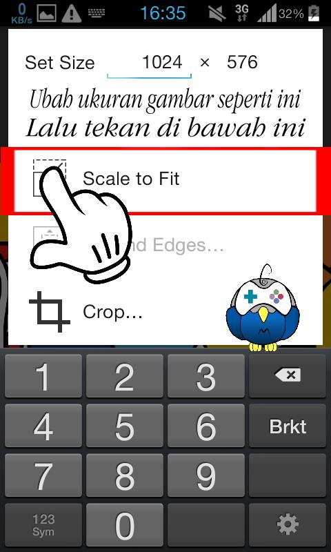 Langkah ketiga cara mengganti wallpaper ePSXe Android